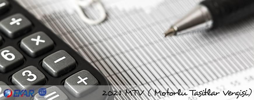 2021 MTV | Motorlu Taşıtlar Vergisi