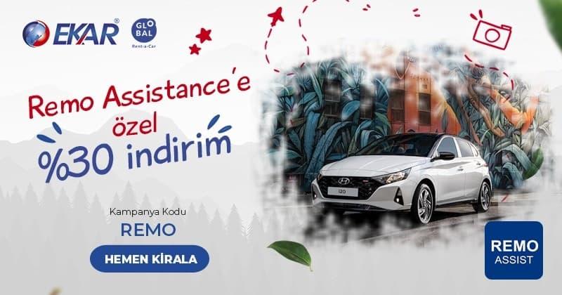 Remo Assistance Ekar Global Araç Kiralama Kampanyası